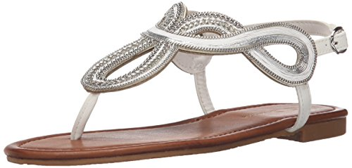 CL by Chinese Laundry Women Night Time Flat Dress Sandal White Calf