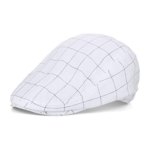 Vintage Gorra GLLH Hombres algodón Casual de de Cuadros para de Visera Gorra B hat Sombreros Sombrero pequeños qin de C Pintor ETOwqTrF