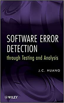 Book Software Error Detection Through Testing and Analysis