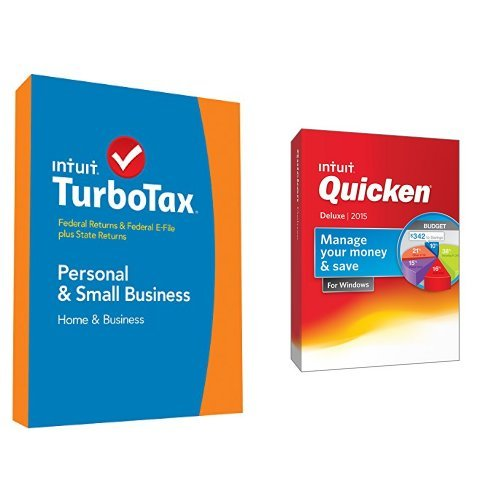 TurboTax Home and Business 2014 and Quicken Deluxe 2015 Bundle