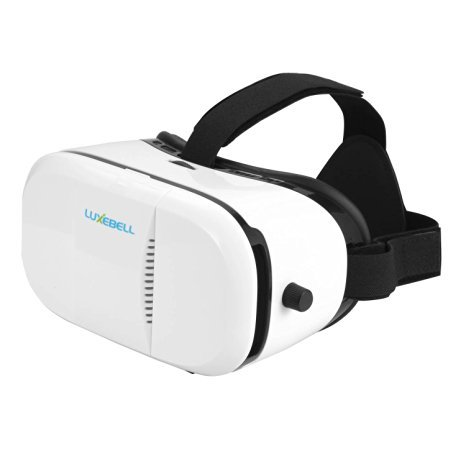Luxebell 3D VR Glasses Virtual Reality Headset Super2 for 3D Movies and Games Compatible with 4.7-6 Inch Smartphone iPhone 6/6S/6 Plus Samsung (White)