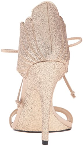 Gold Vestido Nine Sandal Light Carly para mujer West Glitter RR71w8qA