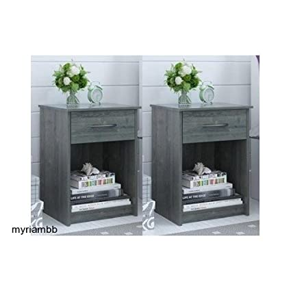 Review Set of 2 Nightstand