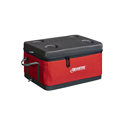 Tailgaterz Collapsible Cooler, Red