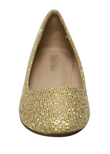Bella Round Flat Women's On Toe Glitter Gold Ballet Stacy Marie 12 Shoes Slip IztAIr