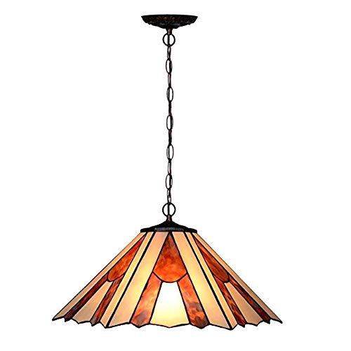 - Tiffany-Style Chandelier,Victorian 2 Light Ceiling Pendant Hanging Lamp Fixture 16-Inch Shade, Multi-Colored Modern Art for Dinner Room Living Room