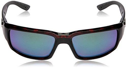 Mar Obmglp 580g Del Unisex Costa Rectangular Fantail adult Mirror Polarized 11 Tortoise Tf green Iridium Sunglasses qHTw05cw