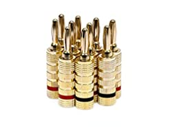 Monoprice 109436 Gold Plated Speaker Ban...