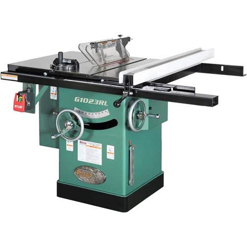 Grizzly G1023RL 3 HP Cabinet Left Tilting Table Saw, 10-Inch