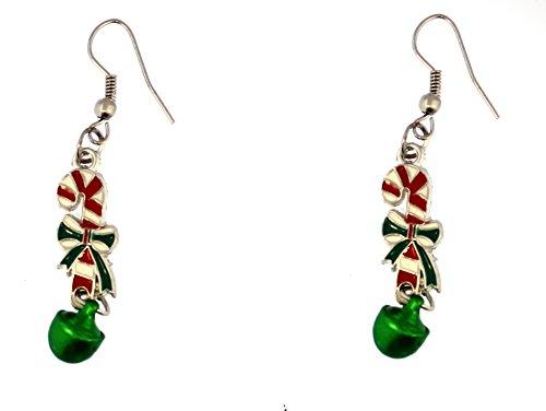 Candy Cane Dangle Earrings