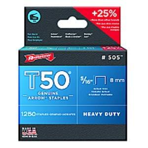 Arrow Fastener Co Inc Arrow Fastener 505 5/16'' 8mm T50 Staples - 24ct. Case