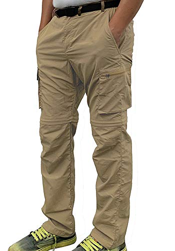 69c8f28d17959 Gash Hao Outdoor Hiking Convertible Pants Mens Quick Dry Water Resistant  Cargo Pockets Breathable Lightweight (Khaki 36x30)