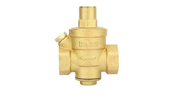 Dn20 Regulador de presión de agua de latón ajustable, válvula ...