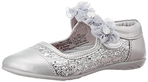 Disney Girl's Silver Mary Jane Flats - 5C UK