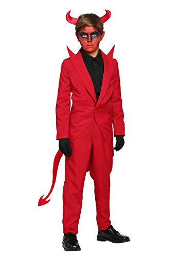 Child Devil Costume Boy (Child Red Suit Devil Costume Medium (8-10))