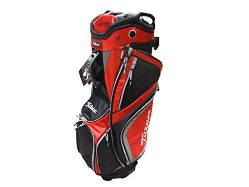 Titleist Men's Lightweight Cart Bag, Black/Grey/Red For Sale