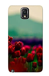 New Arrival Red Tulips CSzBpaf4876xXnlm Case Cover/ Note 3 Galaxy Case