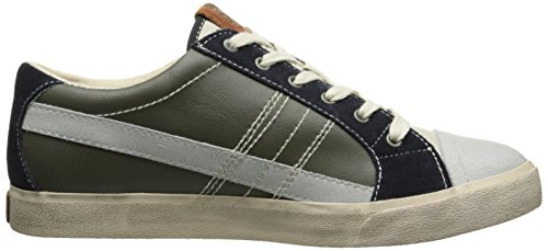 Diesel Mens Velows String Low Fashion Sneaker Olive Night/Pumice Stone IAD6RnWP5