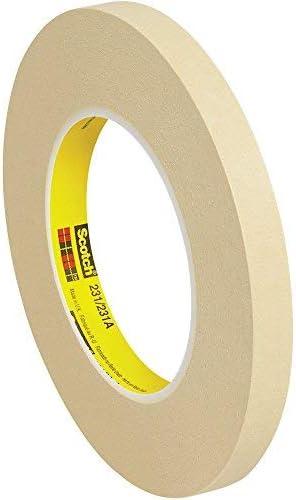 Boxes Fast 3M 231 Masking Tape 7.6 Mil 1/2 x 60 yds Tan (Pack of 12) [並行輸入品]