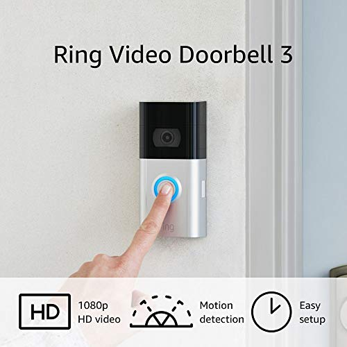 Certified Refurbished Ring Video Doorbell 3 – enhanced wifi, progressed movement detection, simple set up