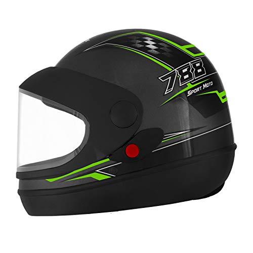 Pro Tork Capacete Super Sport Moto 60 Grafite/Verde