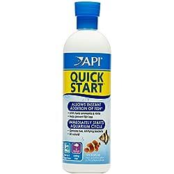 API Quick Start Freshwater & Saltwater Aquarium Nitrifying Bacteria 16 oz Bottle