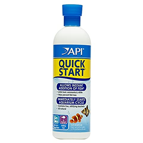 API QUICK START Freshwater and Saltwater Aquarium Nitrifying Bacteria 16-Ounce Bottle - Api Tap Water Conditioner