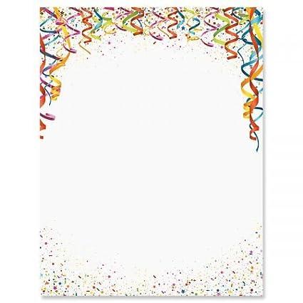 amazon com celebration confetti birthday letter papers set of 25