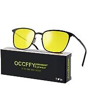Occffy Herren und Damen HD Nachtfahrbrille für Autofahren Anti Glanz Polarisiert nachtsichtbrillen Gewidmet Nachtbrille OC0864