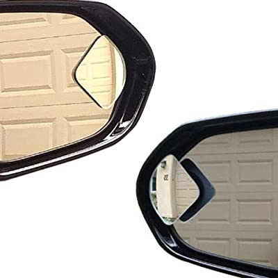 Blind Spot Mirror for Car Truck, Fan Shape Frameless 2'' Small Blindspot Mirror Convex Mirrors,1 Pair (Right & Left, Big Rear Mirrors are Not Included): Automotive