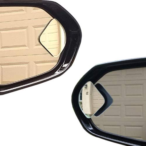 r Car Truck, Fan Shape Frameless 2'' Small Blindspot Mirror Convex Mirrors,1 Pair (Right & Left, Big Rear Mirrors are Not Included) ()
