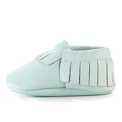 BirdRock Baby Moccasins - 30+ Styles for Boys & Girls! Every Pair Feeds a Child (US 8, Seafoam Green) (Freshly Picked)