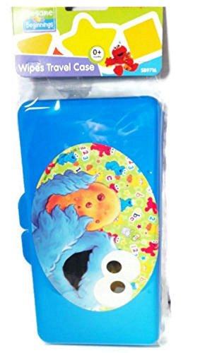 (Diaper Wipes Travel Case Sesame Street (Blue Cookie Monster))