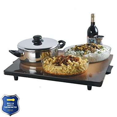 Israheat Shabbat Extra Large Hot Plate IS802 30 Inch x 18 Inch with Built-In Safety Thermostat for Auto Shutoff