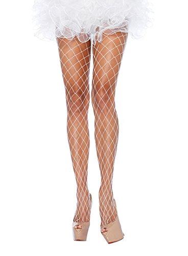 Leg Avenue Net (Leg Avenue Women's Fence Net Pantyhose, White, One Size)