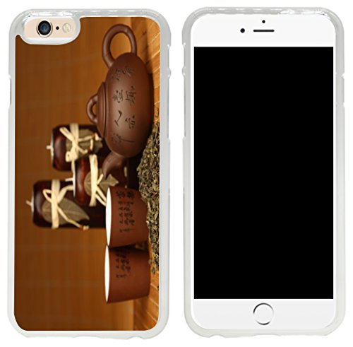 Rikki Knight Chinese Teapot and Teacups with words Design iPhone 6 Case Cover-Clear