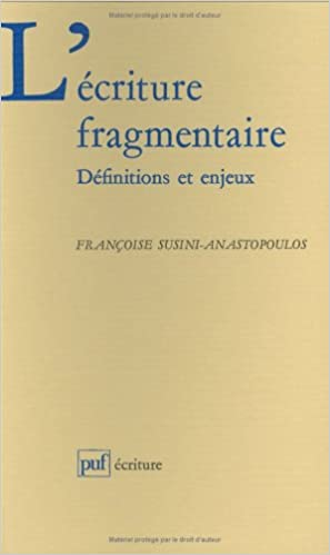 Read Online L'écriture fragmentaire epub pdf