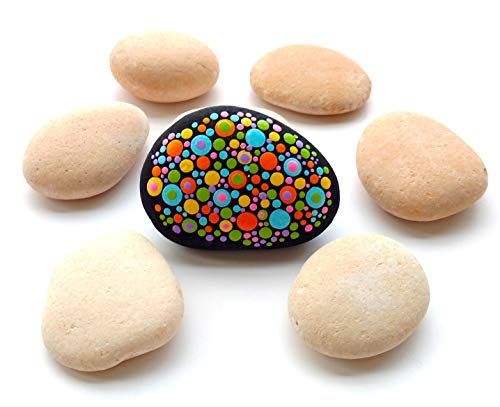 Capcouriers Rocks for Painting - Painting Rocks - Smooth Pink Rocks - About 2 pounds (Typically 12 Rocks)