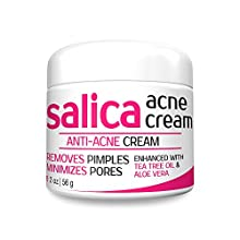 SALICA Acne Cream is made with potent and organic ingredients which includes Salicylic acid 2%, Aloe Vera, Green Tea and Tea Tree Oil. This extraordinary blend is developed especially in the hopes of creating the best pimple remover, pore min...