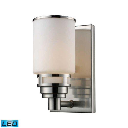 - Elk Lighting 11264/1-LED Vanity Light, Satin Nickel