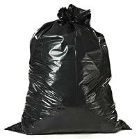 """Bolsas de basura para contratistas de Plasticplace 55-60 galones │ 3.0 Mil │ Bolsa de basura resistente negra │ 38 """"x 58"""" (50 unidades)"""