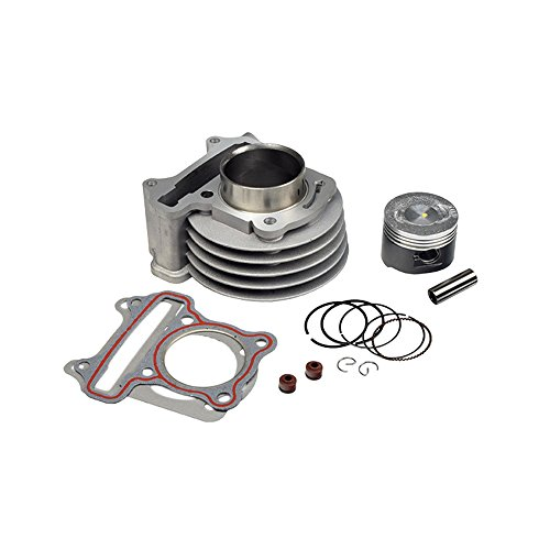 (AlveyTech 72cc 47 mm High Performance Big Bore Cylinder Kit for 50cc QMB139 Scooter Engines)