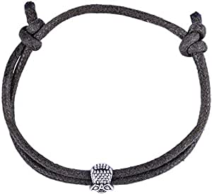 Il Signor Mens Waxed Rope Mr. Bird Bracelet, 15 cm