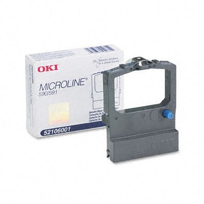 OKI 52106001 Ribbon Cartridge, Black