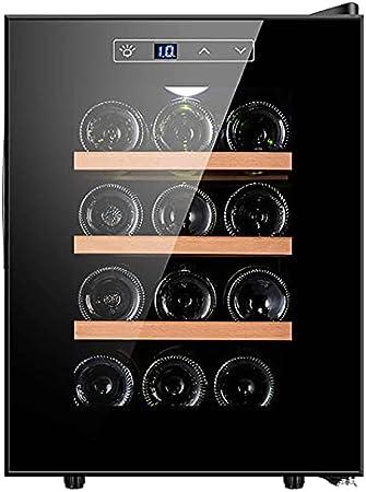 YUN Enfriador De Vino Electrico, Frigorífico Compacto con Congelador, Bodega Eléctrica con Iluminación Interior LED, Frigorífico para Bebidas Y Frigorífico para Bebidas con Puerta De Cristal