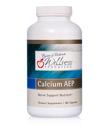 Calcium AEP for Nerves, Cell Membranes (825mg 2-AEP Per Capsule, 180 Capsules)
