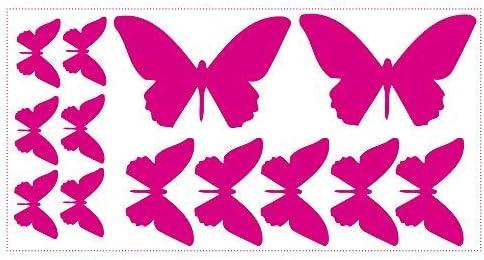 Wandtattoo 9 teiliges Set  Schmetterlinge Wandsticker Wandaufkleber Sticker