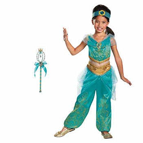 [Disney Princess Jasmine Costume & Wand ~ Size Medium 7/8] (Disney Jasmine Wand)