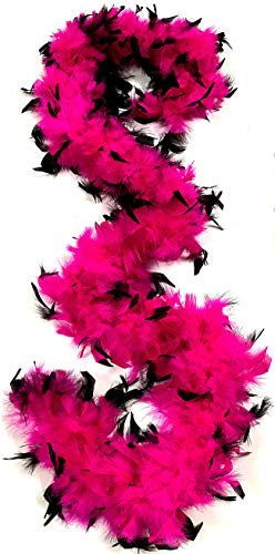 (American Feathers 50 Gram Chandelle Boas (Fuchsia w/Black Tips))