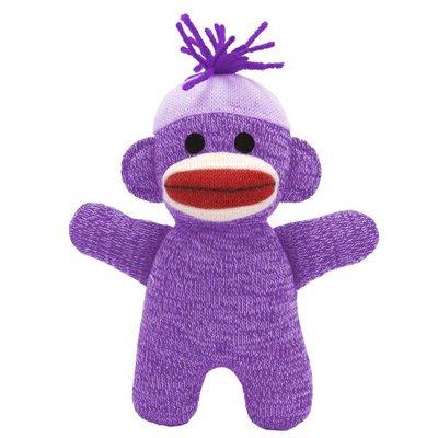 Schylling Purple Baby Sock Monkey